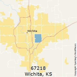 Wichita,Kansas(67218) Zip Code Map