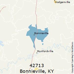 Bonnieville ky zip code