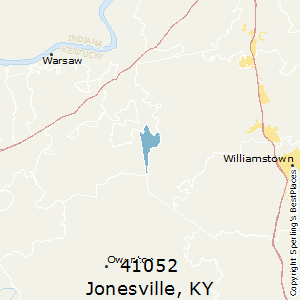 Jonesville,Kentucky County Map