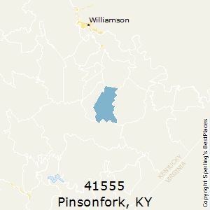 Pinsonfork,Kentucky(41555) Zip Code Map