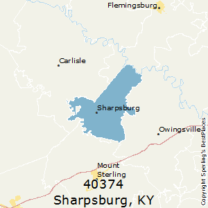 Sharpsburg,Kentucky(40374) Zip Code Map