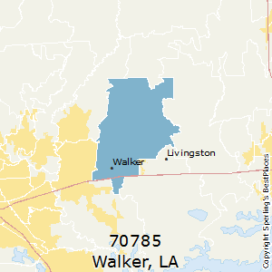 Walker,Louisiana(70785) Zip Code Map