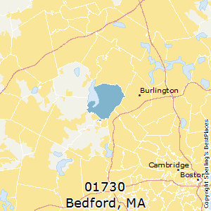 Bedford,Massachusetts County Map