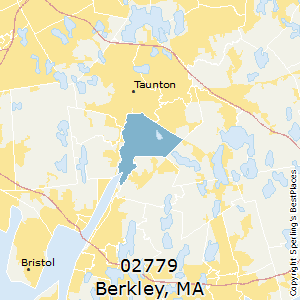 Berkley,Massachusetts County Map