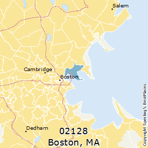 Boston,Massachusetts County Map