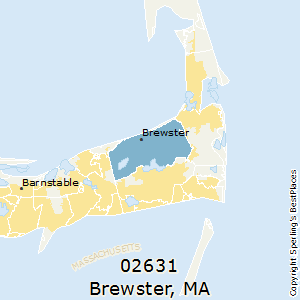 Brewster,Massachusetts(02631) Zip Code Map