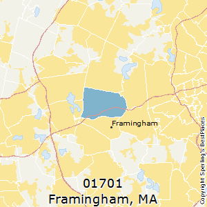 Framingham,Massachusetts(01701) Zip Code Map