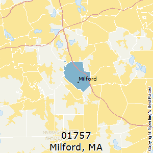 Milford,Massachusetts County Map
