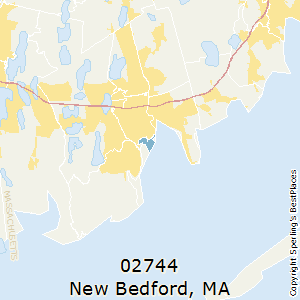 New_Bedford,Massachusetts County Map