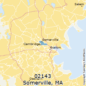 Somerville,Massachusetts(02143) Zip Code Map