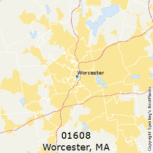 Worcester,Massachusetts County Map
