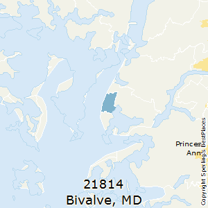 Bivalve,Maryland County Map