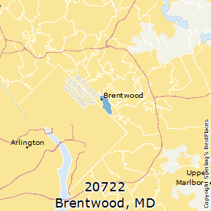 Brentwood,Maryland County Map