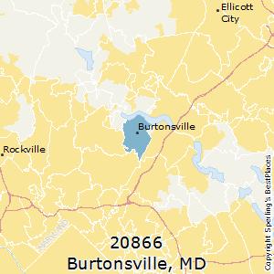 Burtonsville,Maryland(20866) Zip Code Map