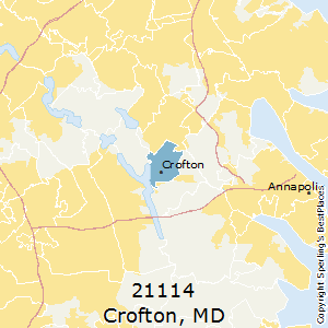 Crofton,Maryland County Map