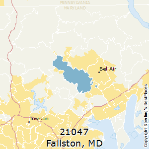 Fallston,Maryland(21047) Zip Code Map