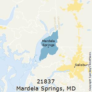 Mardela_Springs,Maryland(21837) Zip Code Map