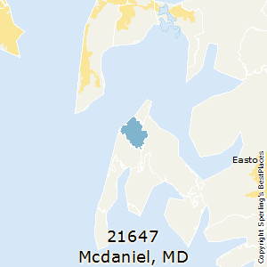 McDaniel,Maryland County Map
