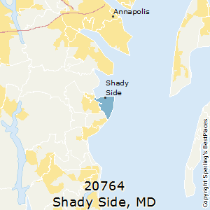 Shady side md zip code