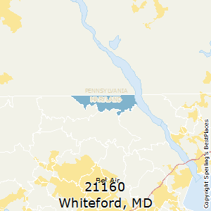 Whiteford,Maryland County Map