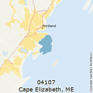 Cape_Elizabeth,Maine County Map