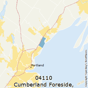 Cumberland_Foreside,Maine County Map