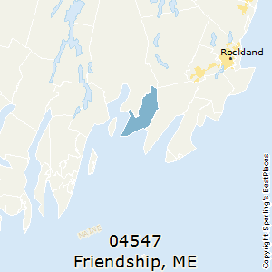 Friendship,Maine County Map