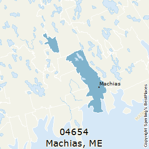 Machias,Maine County Map