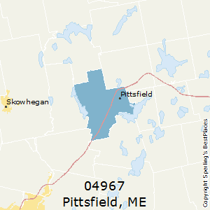 Pittsfield,Maine County Map