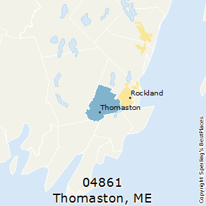 Thomaston,Maine County Map