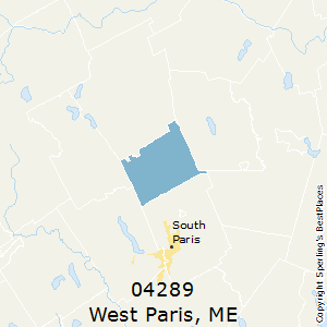 West_Paris,Maine County Map