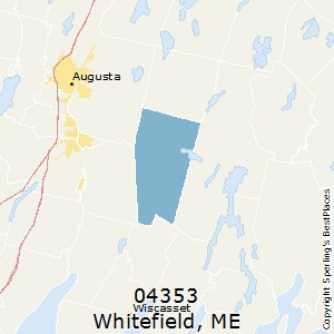 Whitefield,Maine County Map
