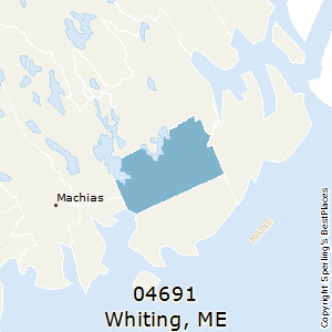 Whiting,Maine County Map