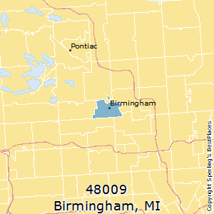 Birmingham,Michigan County Map