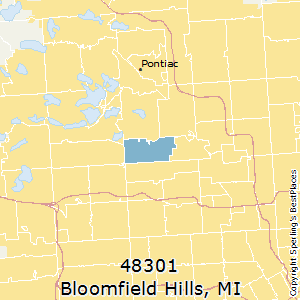 Bloomfield_Hills,Michigan County Map