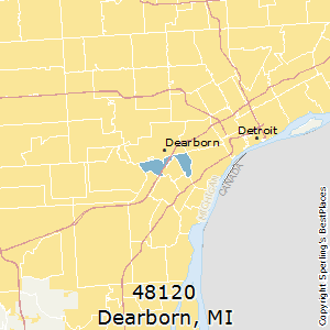 Dearborn,Michigan County Map