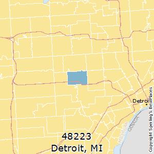 48223 Zip Code Map.Best Places To Live In Detroit Zip 48223 Michigan