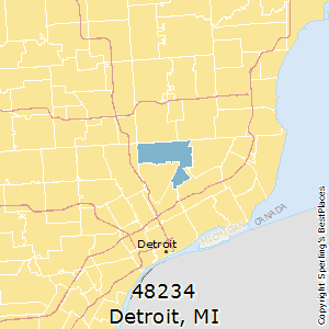 Detroit,Michigan County Map