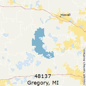 Gregory,Michigan(48137) Zip Code Map