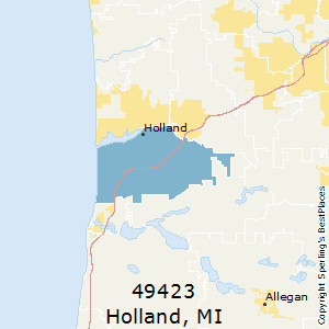 Holland,Michigan(49423) Zip Code Map