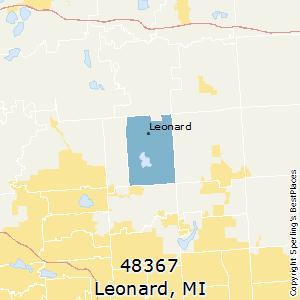 Leonard Michigan Map.Best Places To Live In Leonard Zip 48367 Michigan