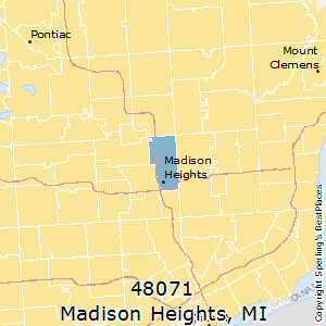 Madison_Heights,Michigan County Map