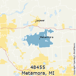 Metamora,Michigan(48455) Zip Code Map