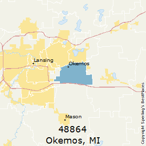 Okemos,Michigan(48864) Zip Code Map