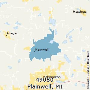 Plainwell Michigan Map.Best Places To Live In Plainwell Zip 49080 Michigan