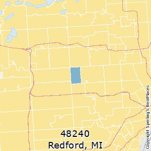 Redford,Michigan County Map