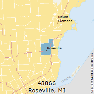 Roseville,Michigan County Map