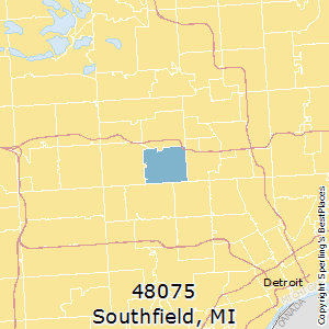 Southfield Mi Zip Code Map Best Places to Live in Southfield (zip 48075), Michigan