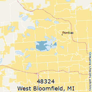 West_Bloomfield,Michigan County Map