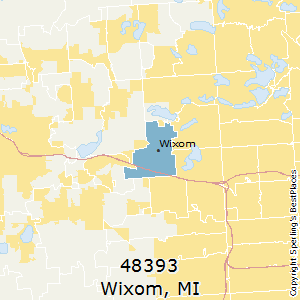 Wixom,Michigan County Map